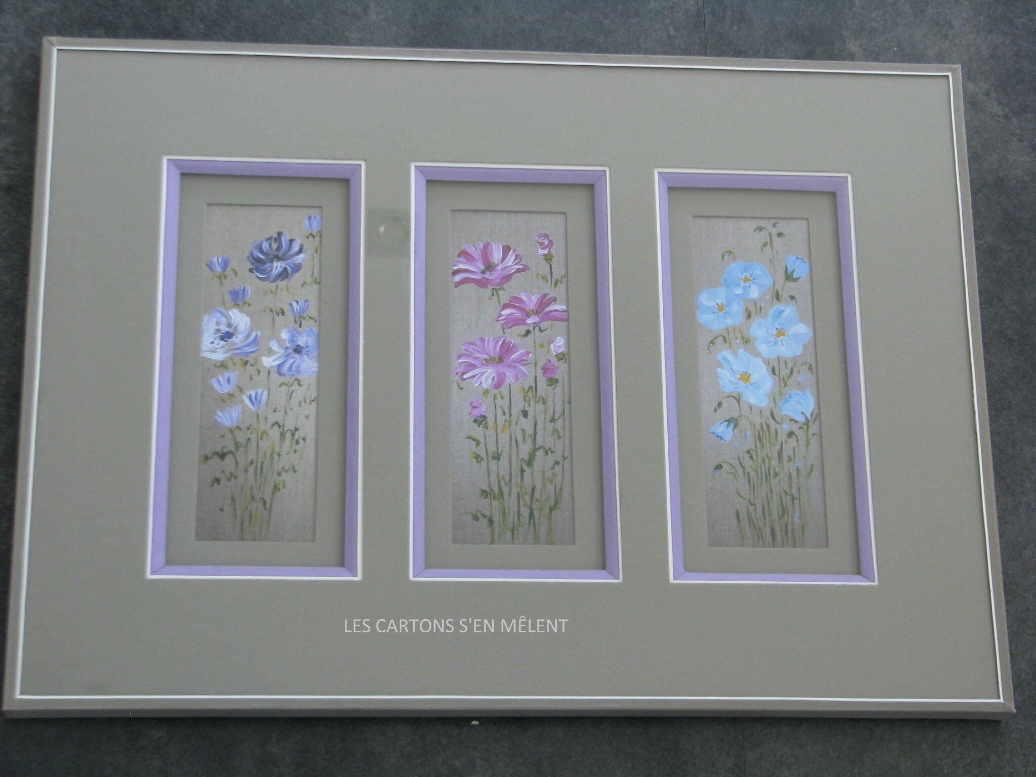 Fleurs sur lin
