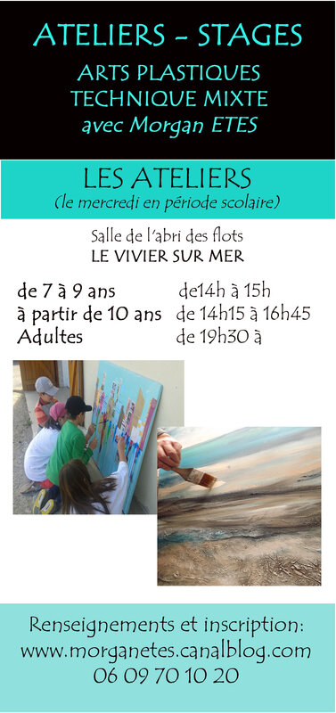 flyer ateliers stages
