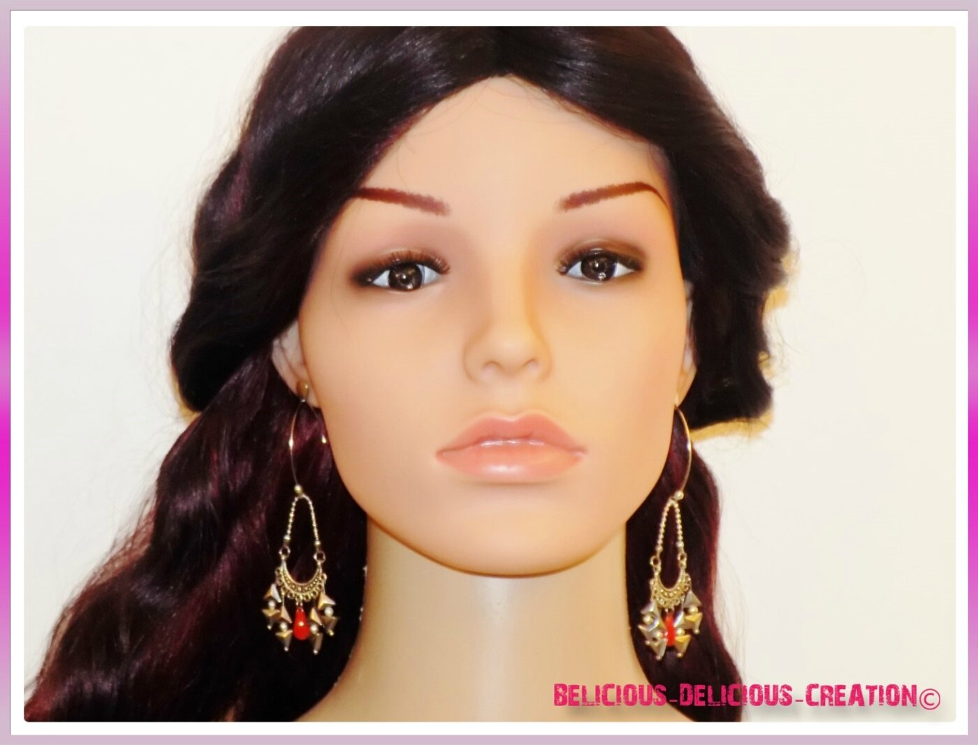 Original Boucles d'oreilles !! CHANDELIER !! en Metal T: 6cm BELICIOUS-DELICIOUS-CREATION