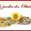 composition florale - centre de table blé et tournesols