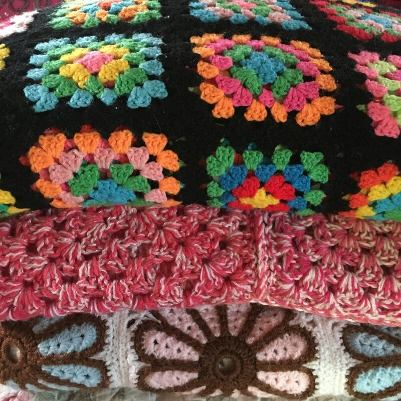 ancienne couvertures au crochet
