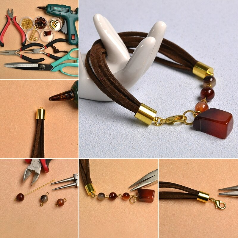 1080-Pandahall-Original-Project--How-to-Make-Simple-Agate-Beaded-Suede-Cord-Bracelet
