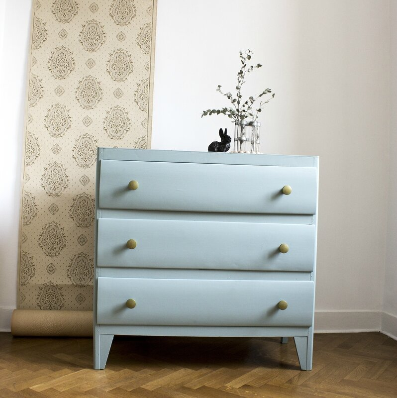 commode vintage années 50 chambre enfant bébé bleu 1