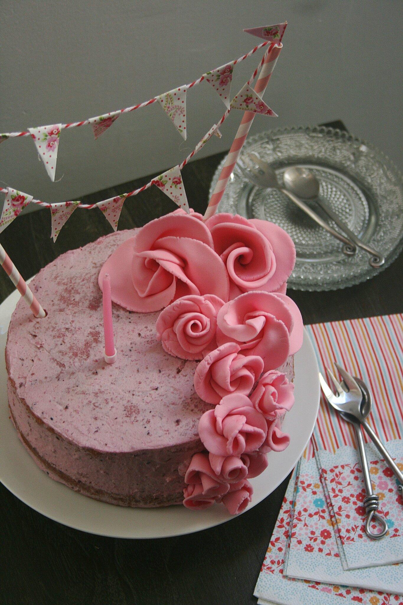 Favori Naked cake tout rose pour un 1er anniversaire et pour une bonne  OW08