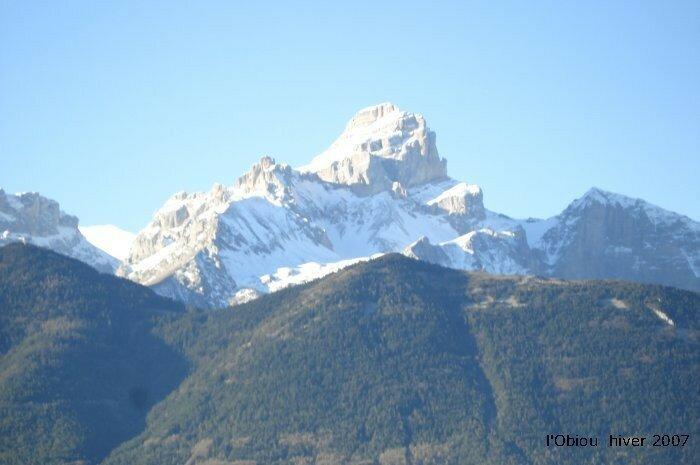 L'Obiou en hiver 2807 metres