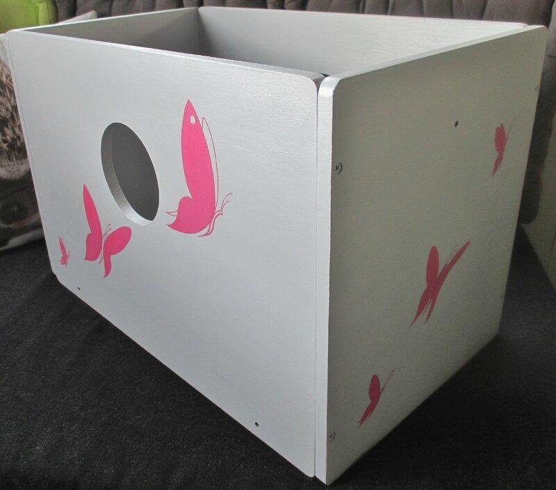 Papillons (caisse bois) - CélinArtisa