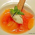 Nage d'agrumes à l'eau de fleur d'oranger