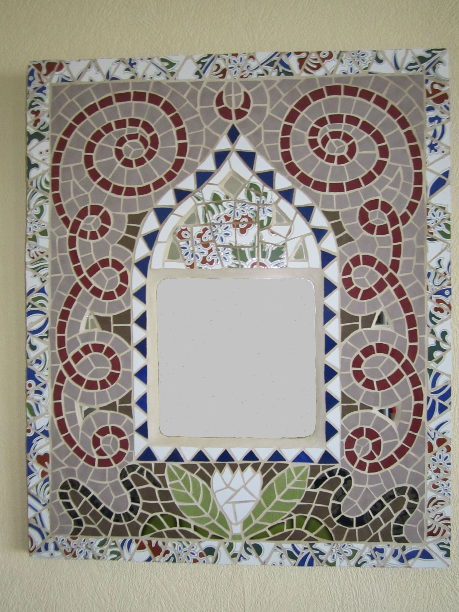 Miroir encastr dans mosa que l 39 oriental les for Miroir en mosaique