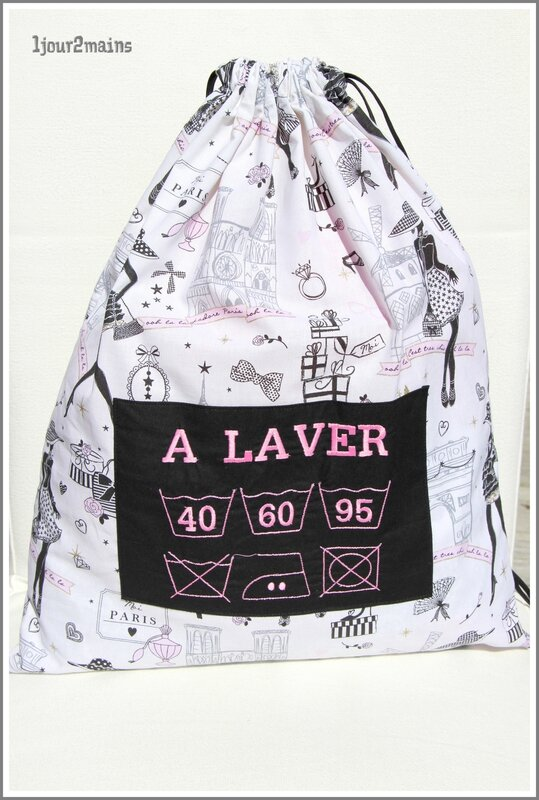 sac linge sale rose paris