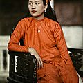 Annam, Vietnam 1931 - The daughter of Annamese royalty poses