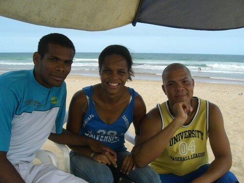 Nos amis brésiliens : Carlos Roberto, Luana et Jorge