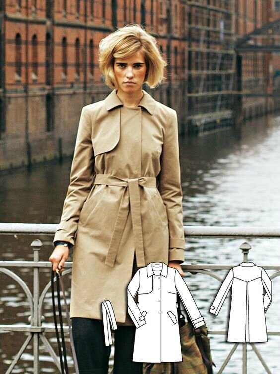 trench coat burda