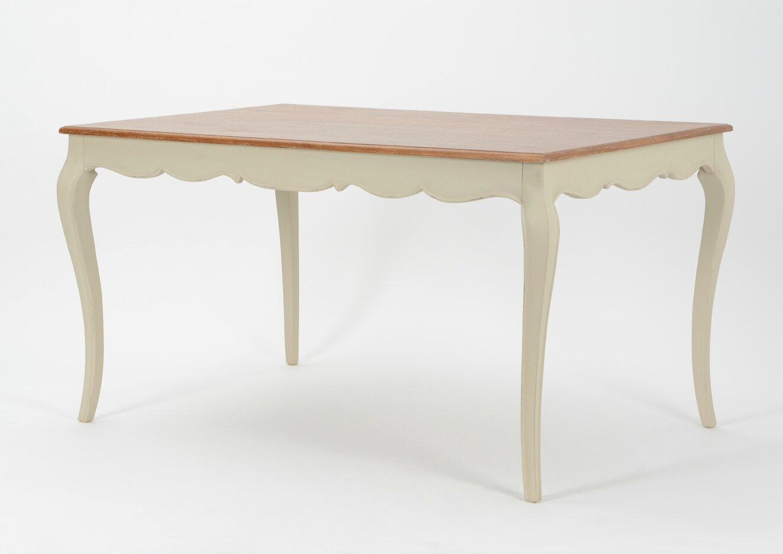 Table en bois galb e pour un style romantique meuble amadeus for Table cuisine en bois nancy