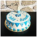 Gâteau baby shower boy