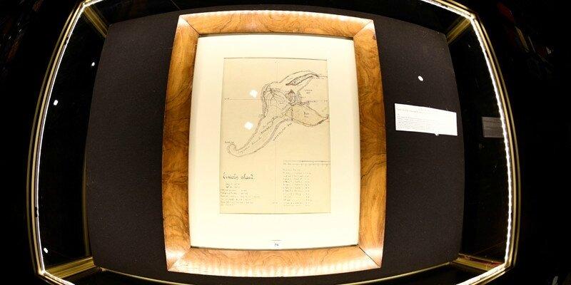 """Jules Verne : la carte de """"L'Île mystérieuse"""" aux enchères"""