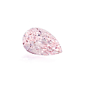 A pear-shaped fancy purplish pink diamond weighing 1,52 ct.