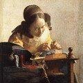 Vermeer, La dentellière (v. 1669), 23.9x20.5cm, h/t maroufflée, Louvre