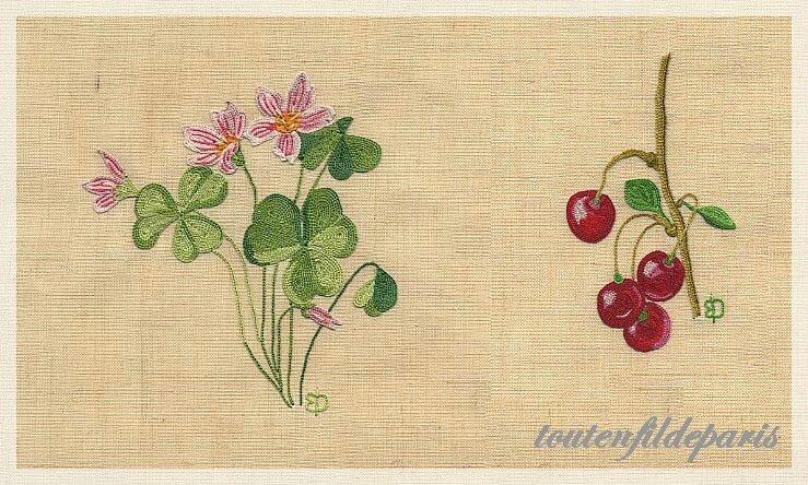 201312 fleur rose et cerises