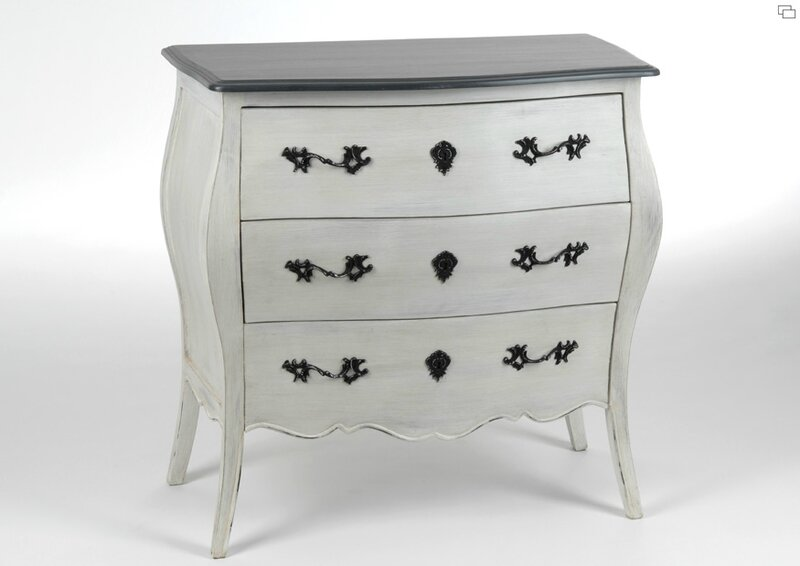 commode baroque grise