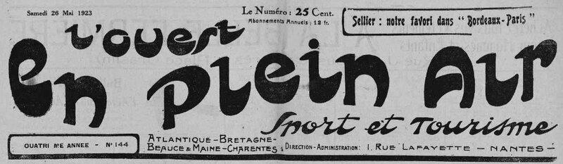 1923 le 1er juin L'ouest en plein air_1