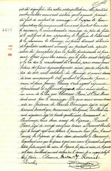 1909 le 18 décembre M René CLOAREC et Marie OXIS à Ourscamp_2