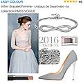 Bracelet infini lady colour .. achat du cadeau pour ma fille - collection paris vogue -