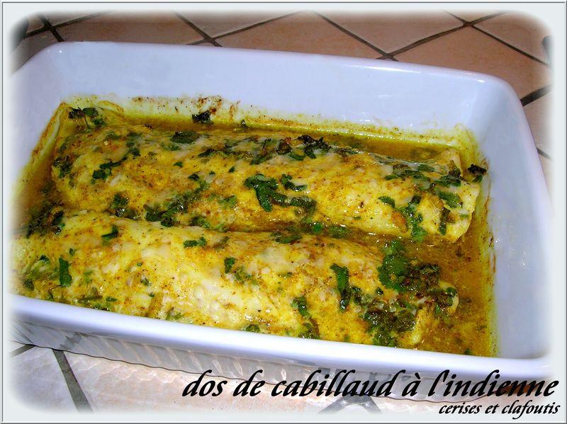Dos de cabillaud l 39 indienne recette du garam masala - Cuisiner du dos de cabillaud ...
