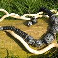 Collier aztèque noir