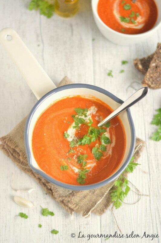 velouté tomates vegan