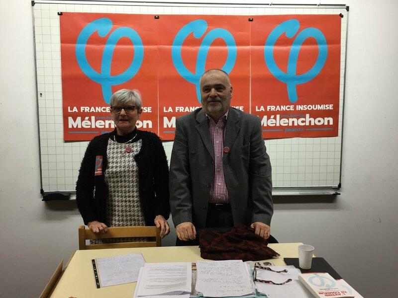 Patrick Grimbert Claudine Santier candidat France Insoumise sud Manche législatives 2017 Granville Avranches Jean-Luc Mélanchon