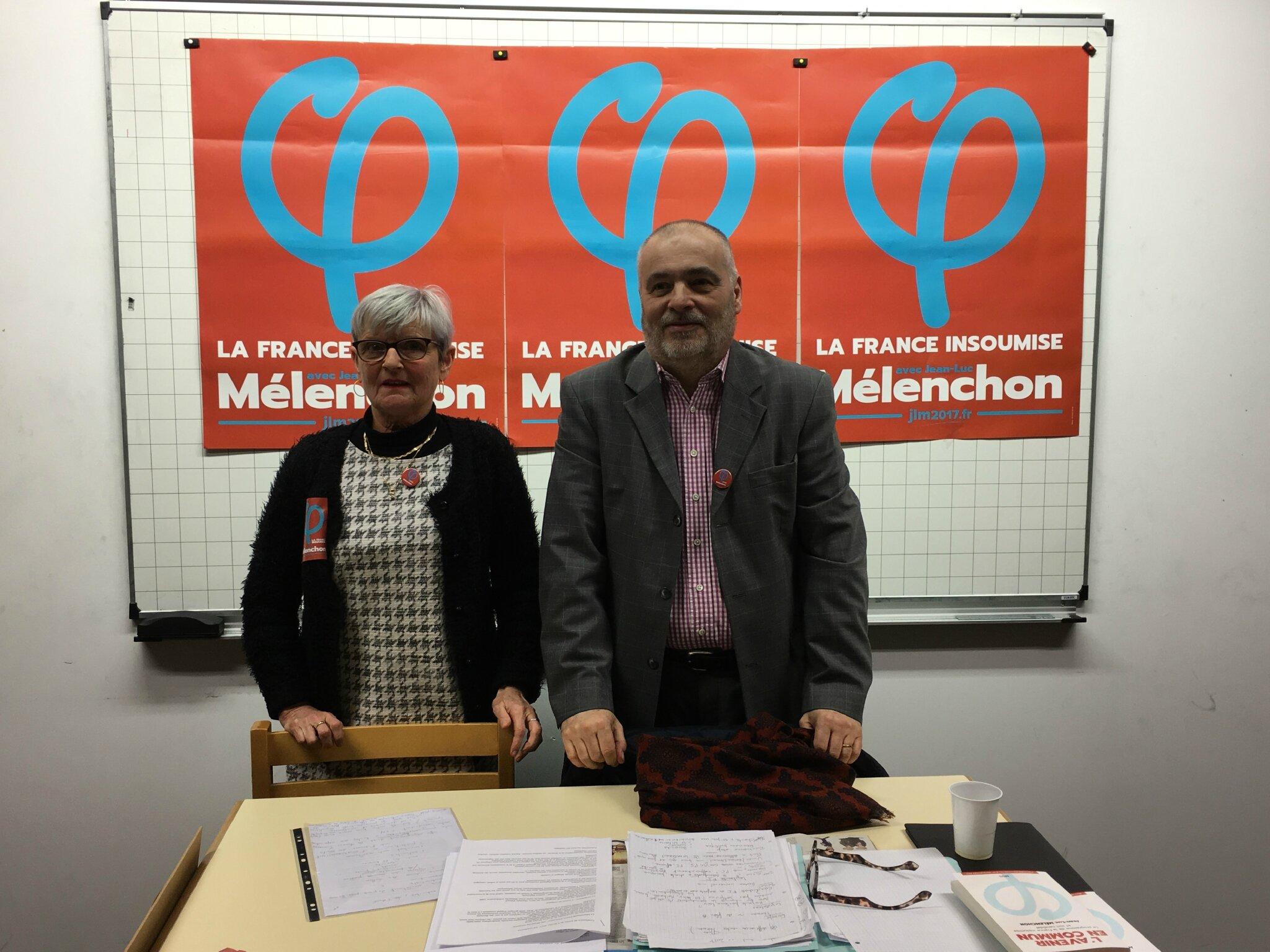 Patrick Grimbert et Claudine Santier candidats de la France Insoumise aux élections législatives 2017 dans le sud Manche