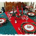 table Noël traditionnel