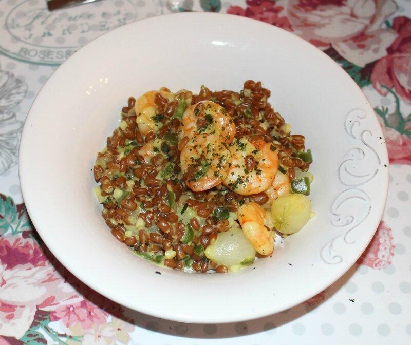curry crevettes petit épeautre