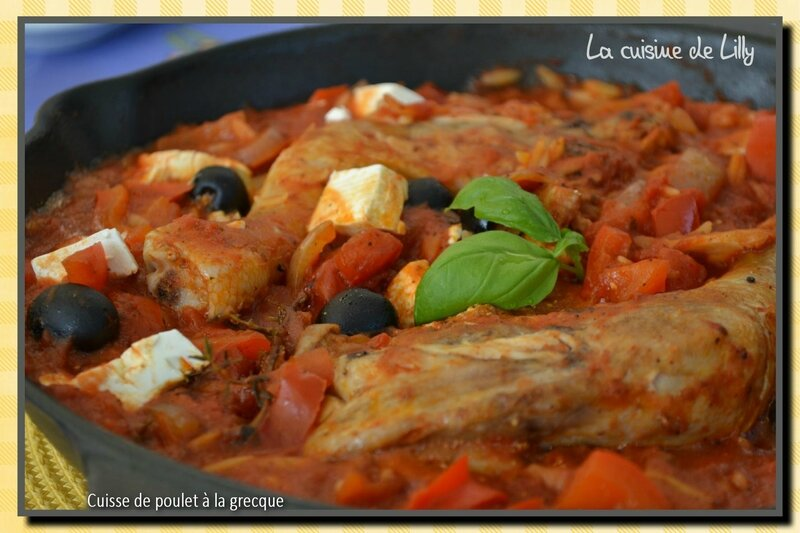 cuisses de poulet à la grecque