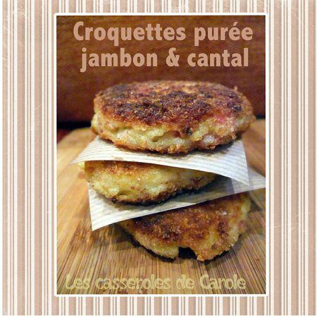 Croquettes purée jambon cantal (recyclage) (scrap)