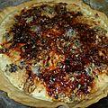 Tarte roquefort noix miel