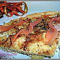 Tarte fine au saumon et fondue de poireaux