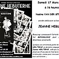 Samedi 17 mars, à 16 heures, venez (re)découvrir la vie de jeanne hebuterne, dernière compagne de modigliani
