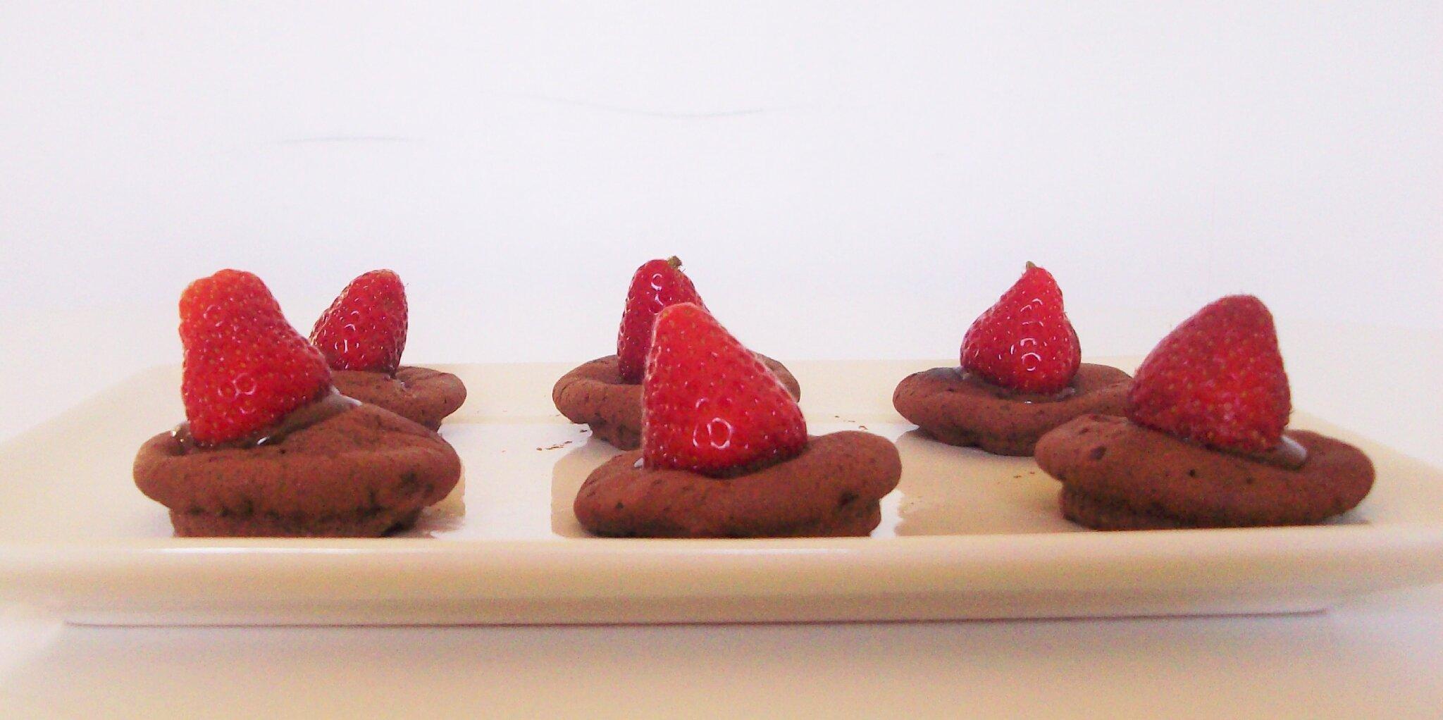 Palets Fondants au Chocolat et aux Fraises [ Défi culinaire #1 ]