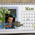 calendrier de bureau TOGA mars