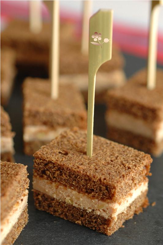 Mini club sandwich pain d'épices & foie gras