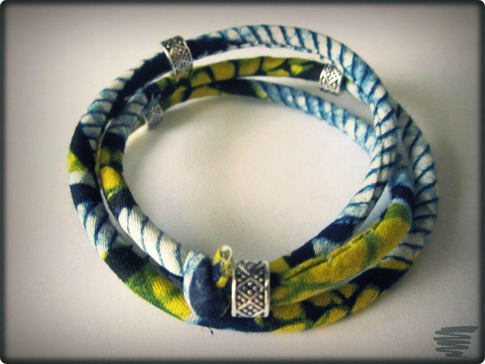 Assez bracelet en tissu wax - Zygzag HX46
