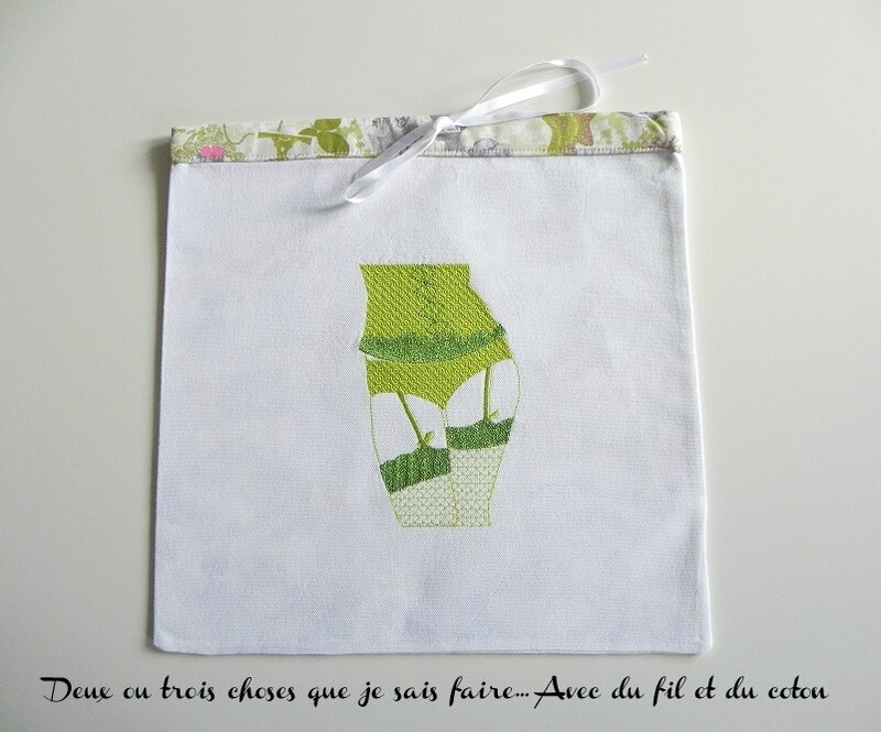 pochon corset vert
