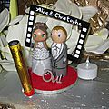 Cake toppers mariage cinéma
