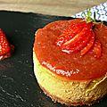 Cheesecake fraise-rhubarbe