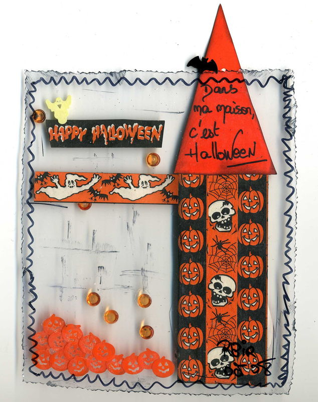 Happy Halloween (verso), 12,5 X 15, oct 2008