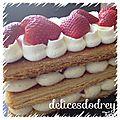 Mille-feuille fraises - vanille