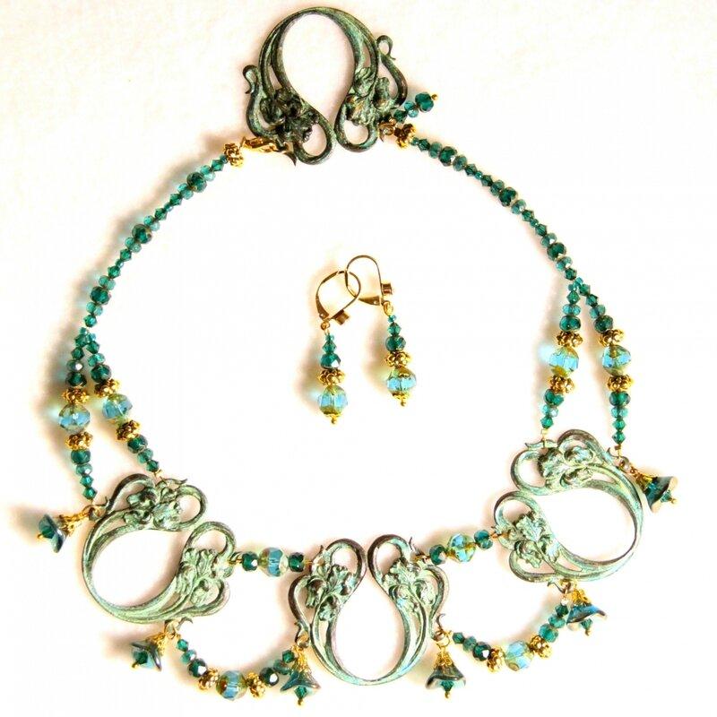art-nouveau collier-parure-iris