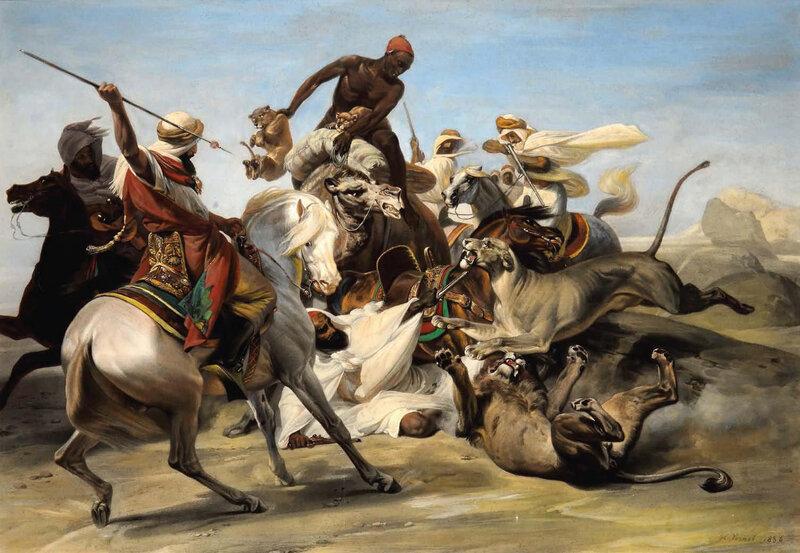 1836 - Chasse au lion