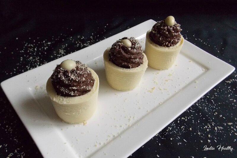 shots chocolat blanc et mousse au chocolat